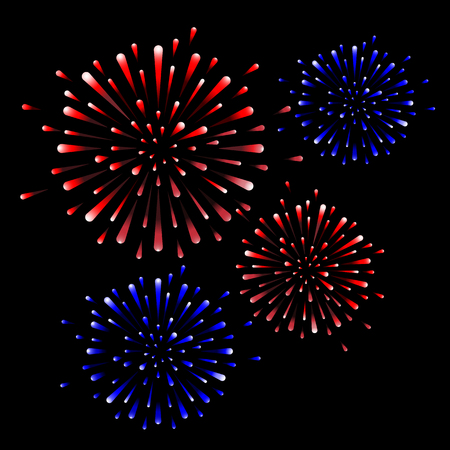 firework on black background, can be use for celebration, party, and new year event. vector illustration