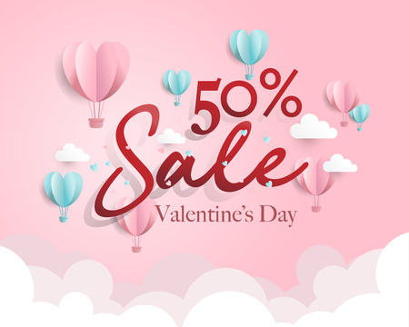 Valentines day sale, discount, special offer, ad, vector, illustration