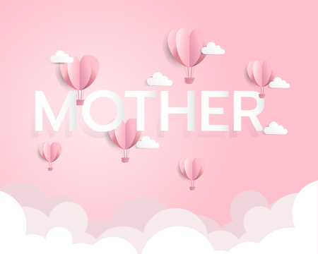 Mothers day background, love mom day can be use for greeting card, backdrop, postcard, vector illustration Çizim