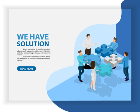 business consulting and solution concept. vector illustration