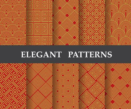 10 different elegant classic patterns. Endless and seamless texture can be used for wallpaper, pattern fills, web page background, surface textures, tile, greeting card, scrapbook, backdrop