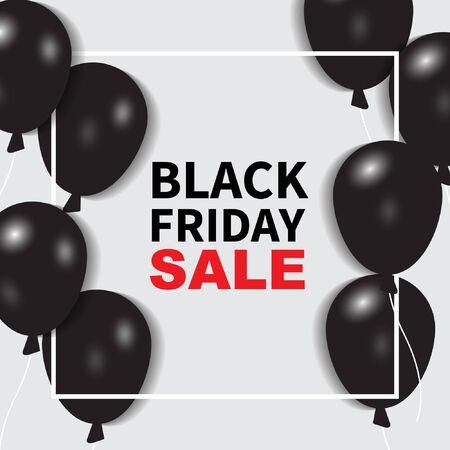 Black friday sale banner background. black and red concept. vector illustration Illustration
