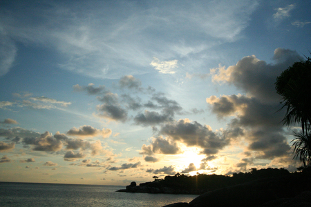 Sunrise Sky Eight Island Similan Island Thailand photo