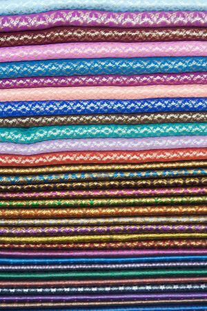 colorful Thailand Silk Stock Photo - 24981576