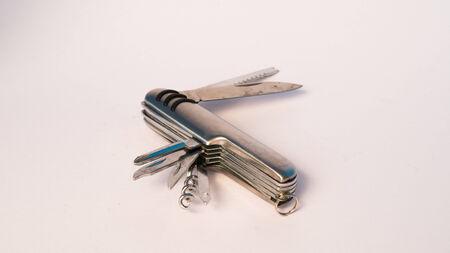 boxcutter: utility tool knife isolated on white Stock Photo