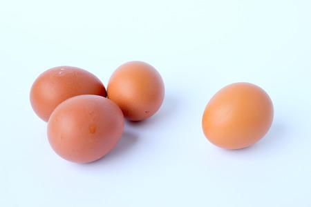 brown eggs: Brown eggs on whitebackground