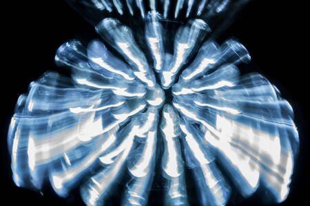 leds: LED en la lámpara reflectora, abstracta Foto de archivo