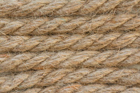 fibrous: structure fibrous rope made of flax, abstract background, closeup