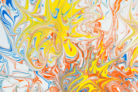 Abstract texture, illustration of the pattern created by color paints, art abstract background