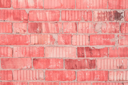 texture of the old destroyed perforated brick wall, abstract background