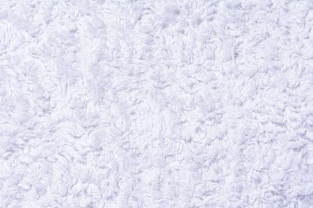 texture of white terry cloth, close-up abstract background Banco de Imagens