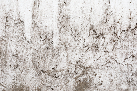 grunge light gray texture of an old wall with black divorces, white surface with smudges, art abstract background