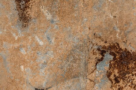 Rusty metal textured background, top view, abstract backdrop