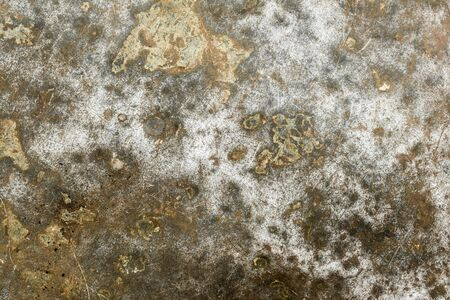 texture of old rumpled shabby metal surface, close-up abstract background