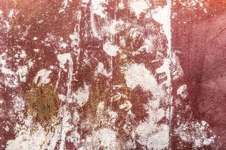 red worn texture of sandpaper, close-up abstract background