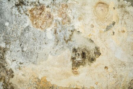 cracked and peeling paint and grunge old wall with detailed texture Stock fotó