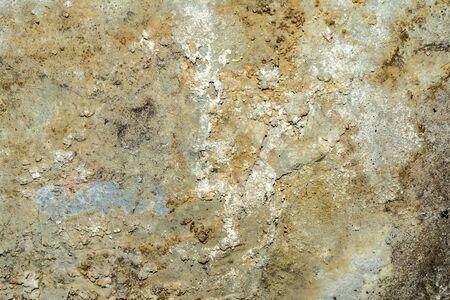 Pintura agrietada y descascarada y pared vieja grunge con textura detallada Foto de archivo