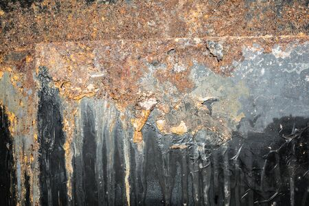 texture rusty corroded black metal close-up abstraction background Stock fotó