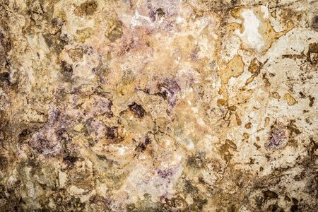 Old antiquity street wall with dust and scratched grunge textures with paint stains, cracks, streaked on yellow-orange stucco wall background