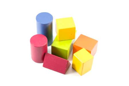 Wooden building blocks 免版税图像