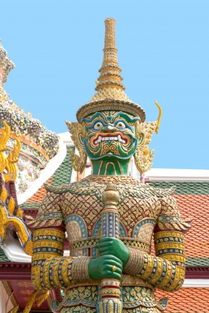 traditional thai style giant statue photo