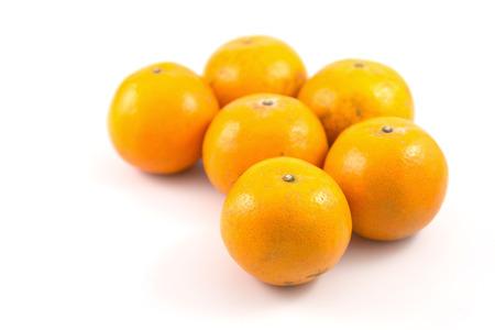 mandarine: Group of Mandarine oranges Stock Photo