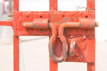 hasp: old hasp on a Steel door no locks