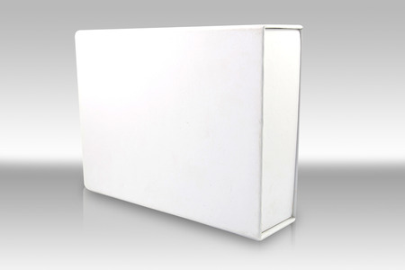 Realistic White Package Box. For Software, electronic device and other products. photo