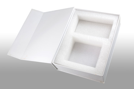 Realistic White Package Box. For Software, electronic device and other products.