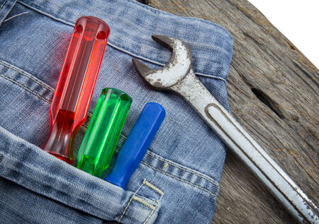 Work tools in with jeans
