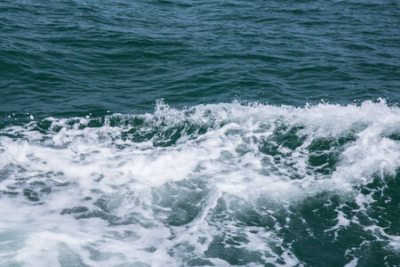 The sea and the waves, Wave caused by cruise ship.