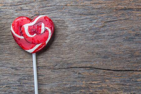 red heart-lollipop, concept love, valentine photo