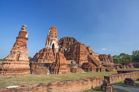 Asian religious architecture. Ancient Buddhist pagoda ruins, Thailand travel landscape and destinations