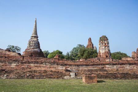 destinations: Asian religious architecture. Ancient Buddhist pagoda ruins, Thailand travel landscape and destinations