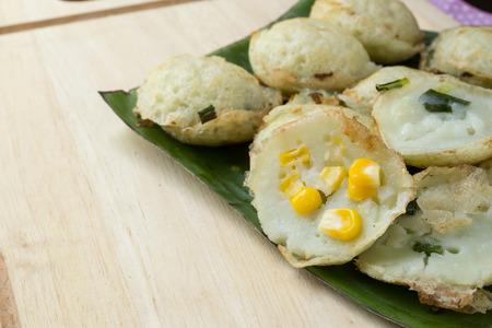 oreochromis niloticus: Coconut milk mix sugar and flour. - Kind of Thai sweetmeat
