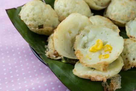nilotica: Coconut milk mix sugar and flour. - Kind of Thai sweetmeat