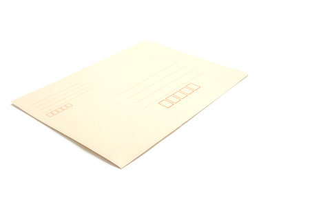 Envelope document on white background