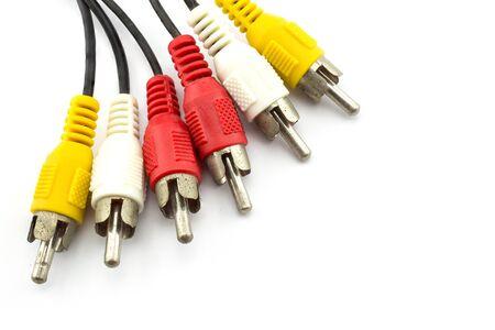 AV cable isolated on white background. photo