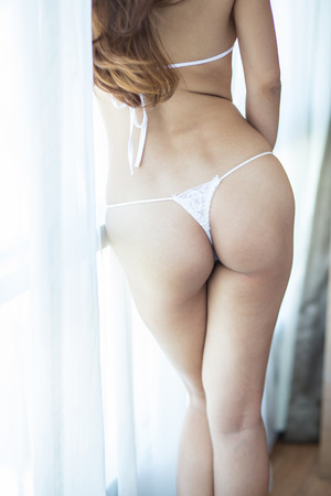 sexy panties: sexy buttocks in lingerie Stock Photo