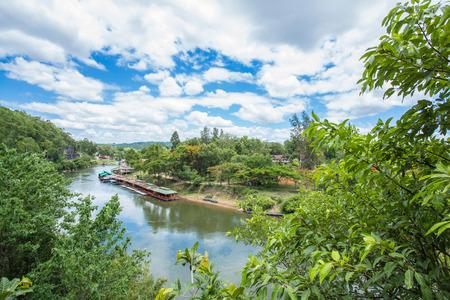 View of Burma railway (Death railway) and river Khwae (Kwai), Thailand photo