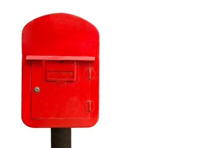 red post box: Red post box isolate on a white background.
