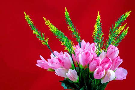fake: Fake flowers for interior decoration Stock Photo