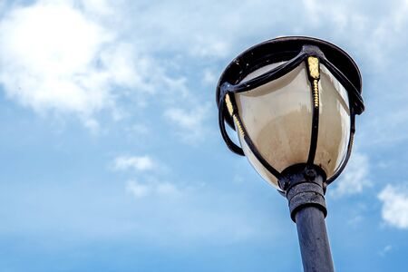 lamp post: Lamp post in the sky Stock Photo