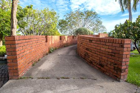 cement floor: cement floor pathway, walkway in garden