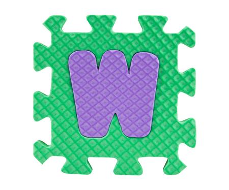 foam box: Jigsaw box with alphabet, clipping path