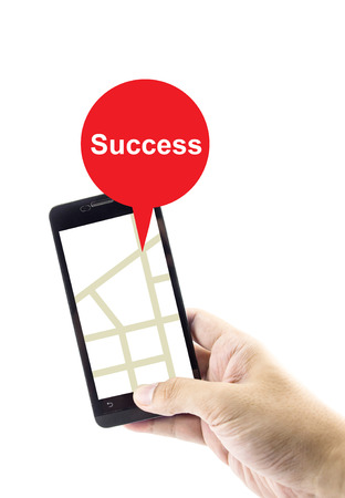 gprs: Navigation concept. success search with gprs on mobile for business