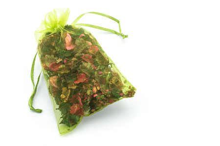 sachet: Dried flower in sachet bag with aroma Stock Photo
