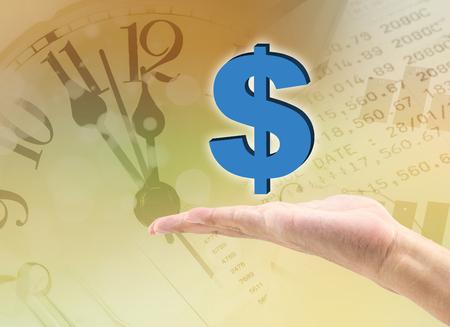 dolar: dolar in the hand Stock Photo