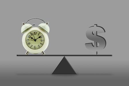 dangerous ideas: time money - balance, business concept Stock Photo