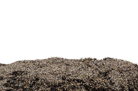 dirt: Soil or dirt section isolated on white background
